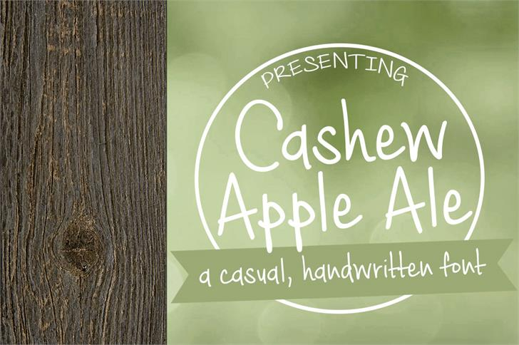 Cashew Apple Ale Font handwriting design