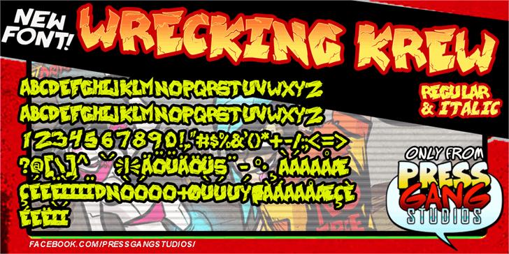 wrecking krew Font cartoon text