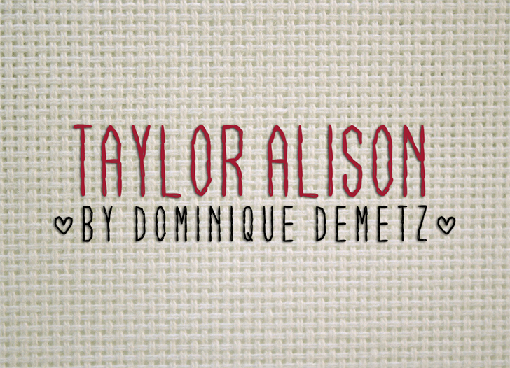 Taylor Alison Font text typography