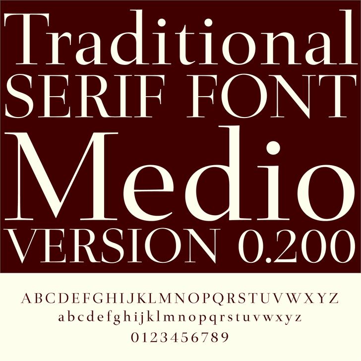 Medio Font book text