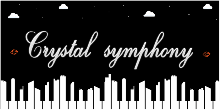 Crystal symphony -  Personal us font by Herofonts