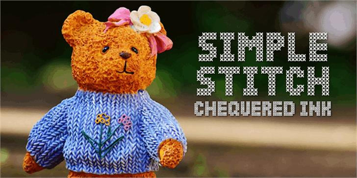 Simple Stitch Font cartoon colorful