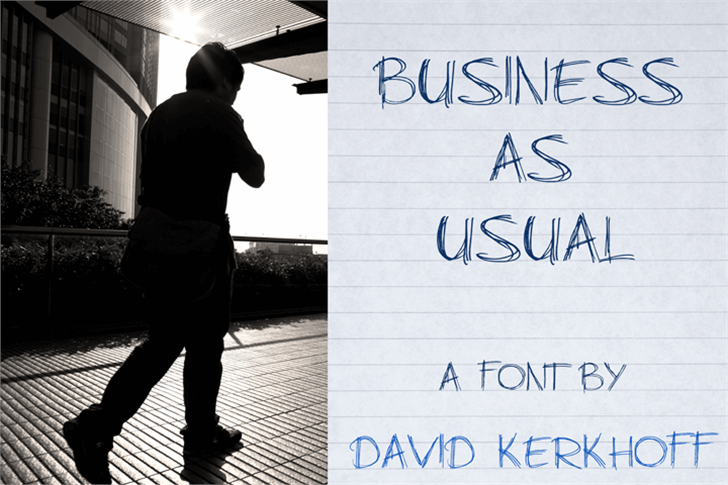 Business As Usual Font handwriting clothing