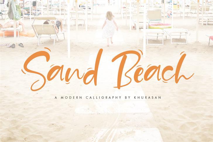 Sand Beach Font handwriting