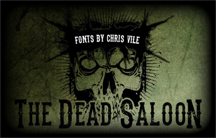 the dead saloon Font poster text