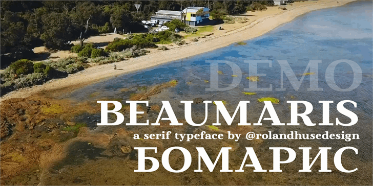 Beaumaris Demo Font beach water