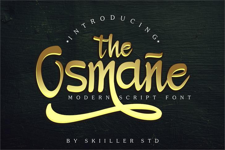 Osmane Font poster
