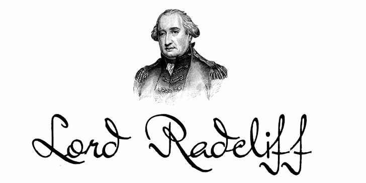 Lord Radcliff Font sketch drawing