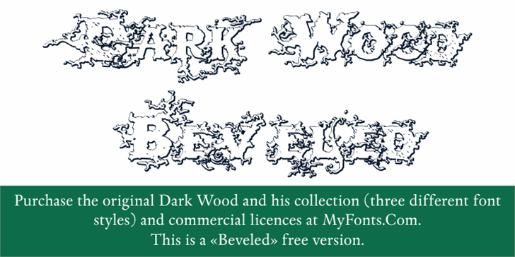 DarkWoodBeveled Font handwriting design