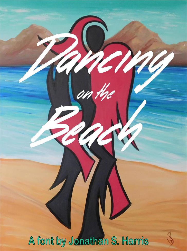 Dancing on the Beach Font water cartoon