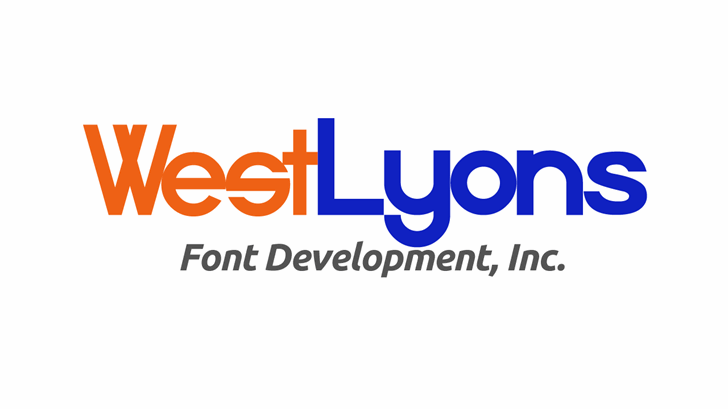 538Lyons Font design graphic