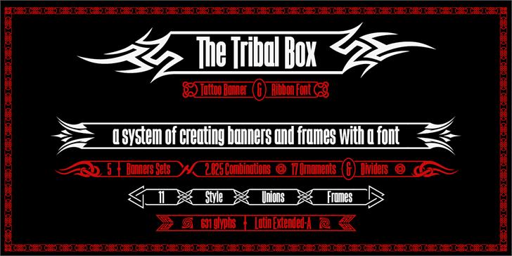 The Tribal Box Font text screenshot