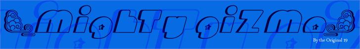 Mighty Gizmo Font sky cartoon