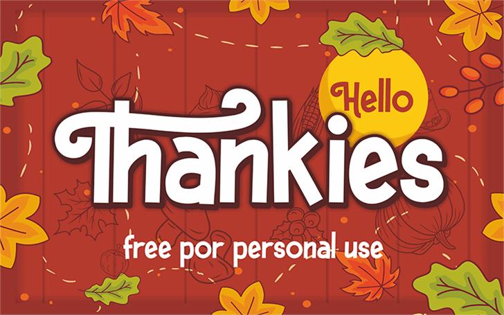 Hello Thankies Font cartoon design