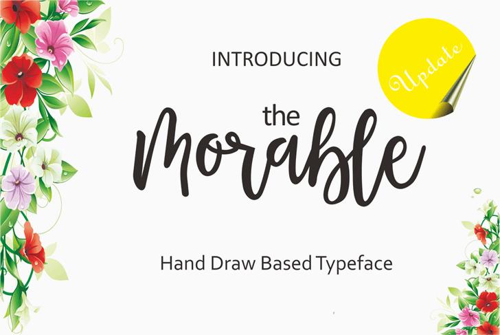 Morable Font handwriting design