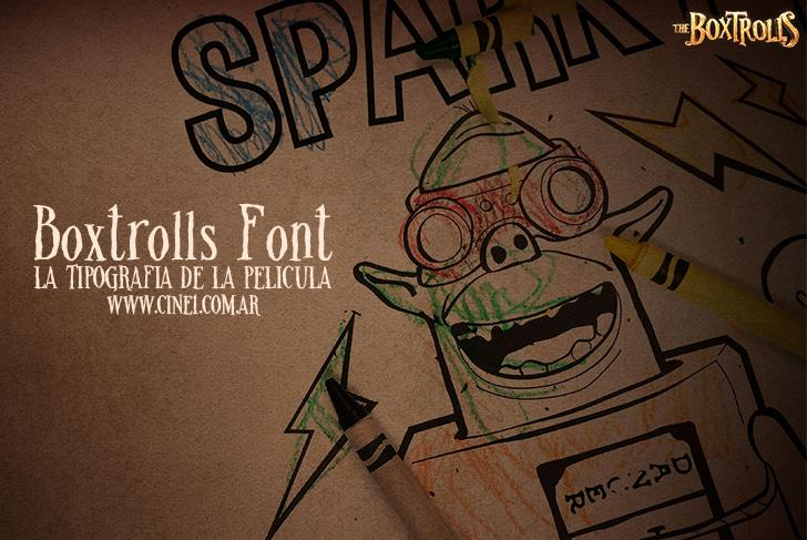 Boxtrolls Font cartoon illustration