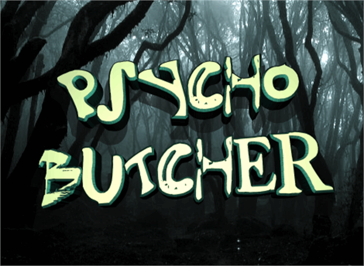 Psycho Butcher Font typography text
