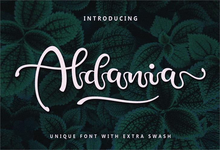 Aldania Font text