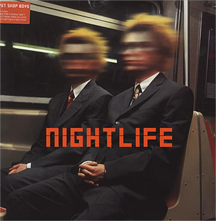 Nightlife Font person suit