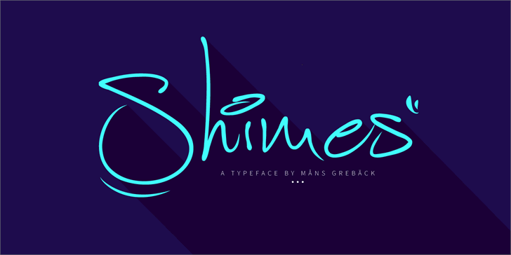 Shimes PERSONAL USE Font design graphic