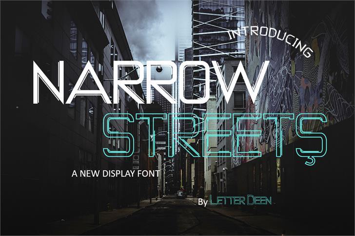 NARROW STREETS Font poster