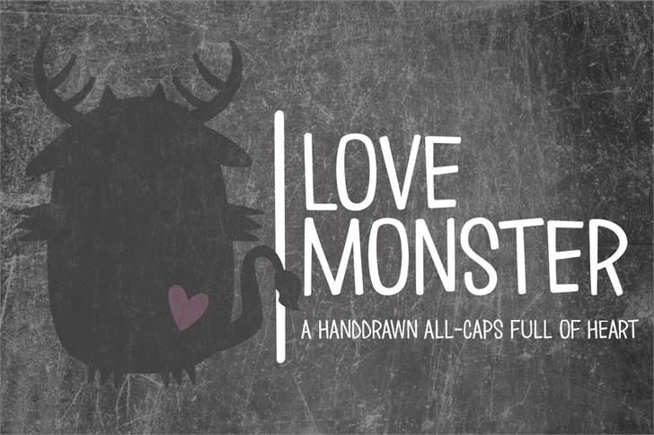 Love ∞ Monster Font text poster