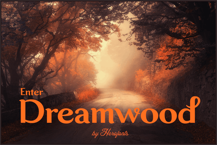 Dreamwood DEMO Font tree fog
