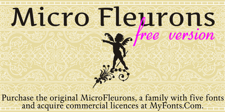 Micro Fleurons Free Font text poster