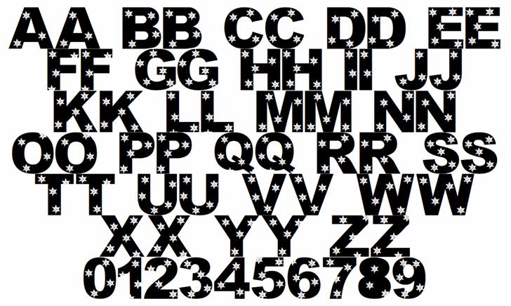 LMS Let It Snow Font Letters Charmap