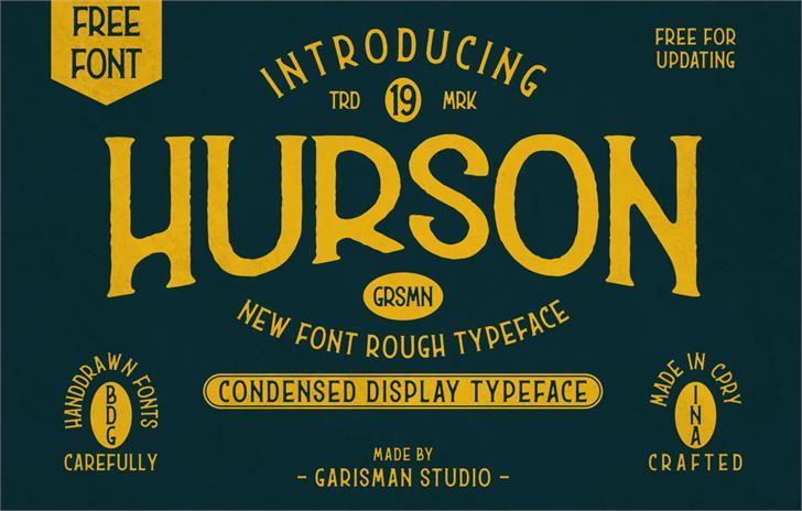 Hurson Font text poster