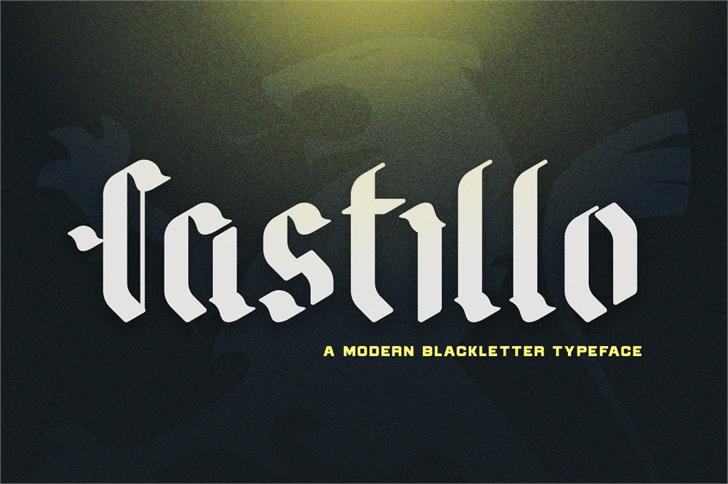 Castillo Font design typography