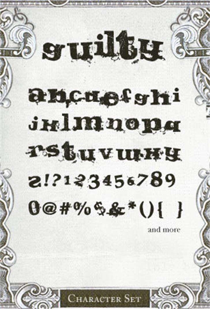 Guilty Font handwriting text