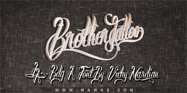 Brother Tattoo Font handwriting text