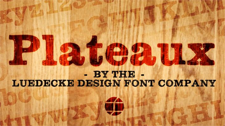 Plateaux Font poster text