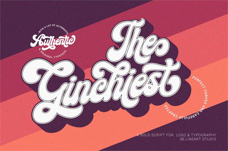 Ginchiest Font poster