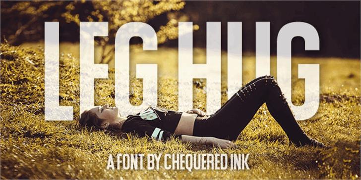 Leg Hug Font grass outdoor