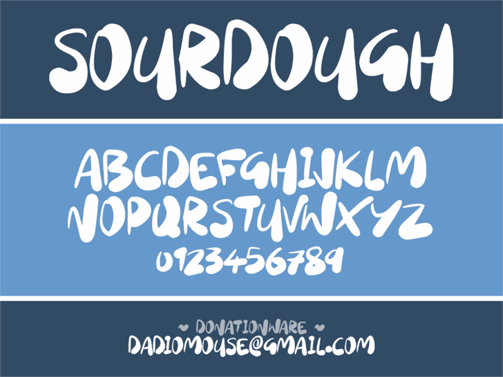 Sourdough Font screenshot text