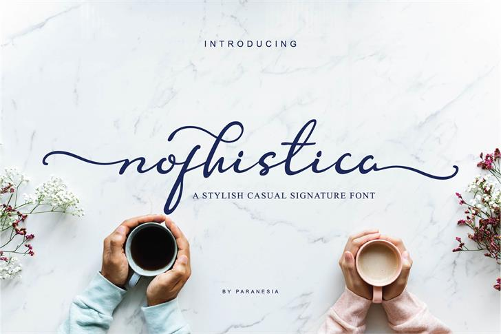 Nofhistica Font handwriting design