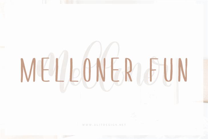 Melloner Fun Font design typography