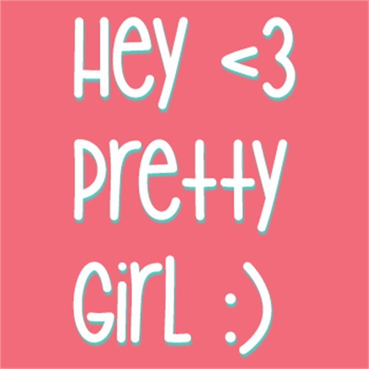 Hey Pretty Girl Font design graphic