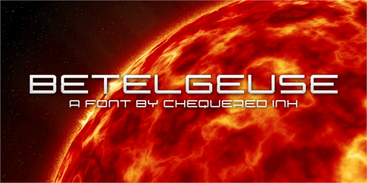 Betelgeuse Font screenshot fireworks