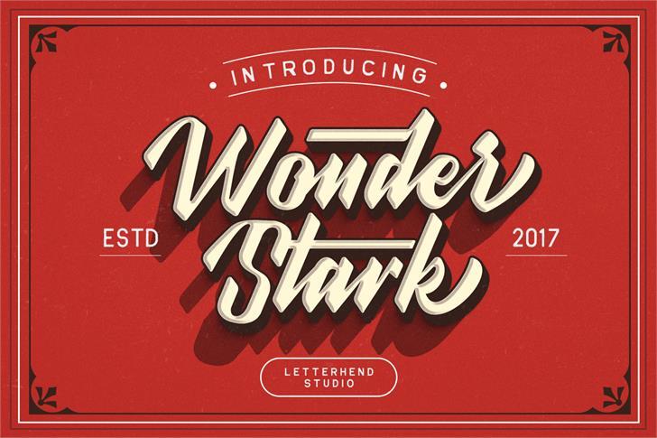 Wonder Stark DEMO Font design typography
