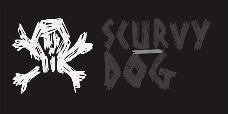 DK Scurvy Dog Font sketch drawing