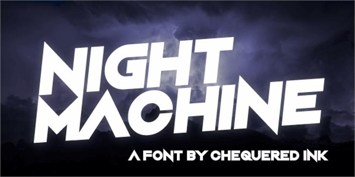 Night Machine Font screenshot poster