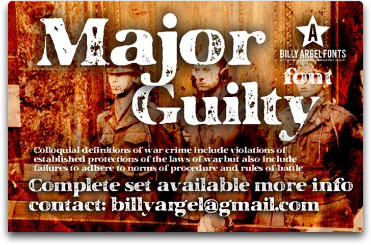 MAJOR GUILTY Font poster screenshot