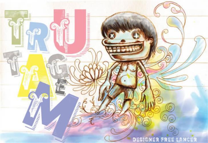 vtks trutagem Font cartoon drawing