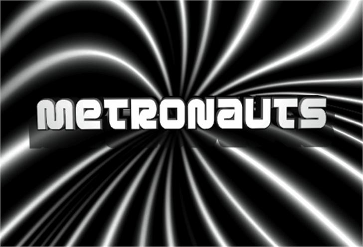 Metronauts Font screenshot design