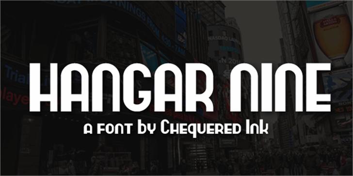 Hangar Nine Font screenshot poster