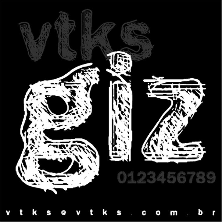 vtks giz font by VTKS DESIGN