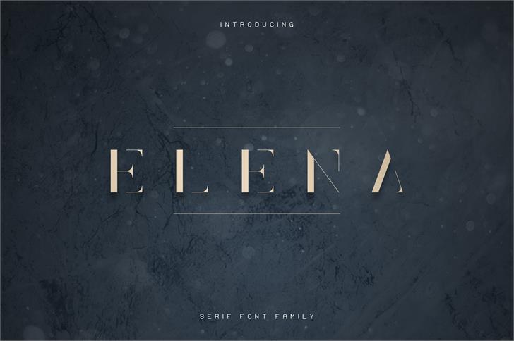Elena Light Font screenshot font